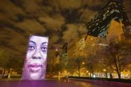 美国芝加哥皇冠喷泉夜景图片(12张)