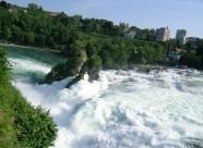 瑞士莱茵瀑布风景图片(8张)