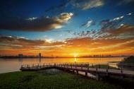 江苏无锡宝界公园夕阳风景图片(10张)