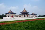 内蒙古鄂尔多斯成吉思汗陵风景图片(18张)