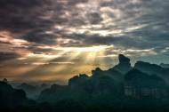 广东丹霞山日出风景图片(10张)