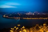 夜幕下的阆中古镇风景图片(10张)