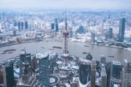 上海雨雪天气建筑风景图片(15张)
