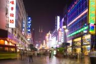 上海南京路商业街夜景图片(30张)