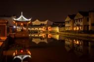 浙江西塘古镇夜景图片(11张)
