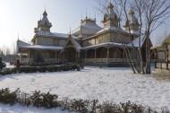 哈尔滨伏尔加庄园冬天风景图片(12张)