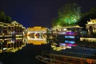 湖南凤凰古城夜景图片(11张)
