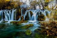九寨沟瀑布图片(8张)