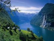 挪威峡湾风景图片(6张)