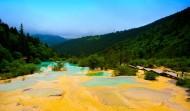 四川黄龙迎宾池风景图片(9张)