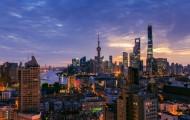 上海陆家嘴日出风景图片(10张)