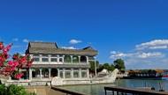 蓝天白云下的颐和园风景图片(11张)