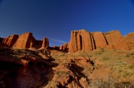 新疆阿克苏托木尔峰峡谷风景图片(11张)
