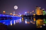 浙江嘉兴南湖大桥夜景图片(7张)