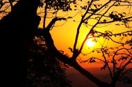 湖南苏仙岭落日风景图片(6张)