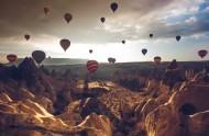 飞上天的热气球图片(11张)