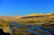 西藏象泉河晨曦风景图片(9张)