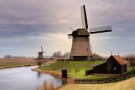 荷兰风车景色图片(10张)