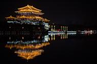 陕西西安大唐芙蓉园美丽夜景图片(16张)