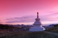西藏落日风景图片(9张)