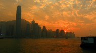 香港维多利亚港日落风景图片(8张)