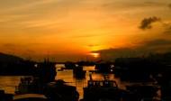 香港长洲岛晚霞图片(6张)
