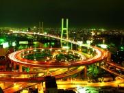 上海延安路高架桥夜景图片(9张)