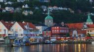 挪威卑尔根夜景图片(20张)