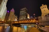 美国芝加哥河夜景图片(13张)