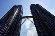 不同角度的吉隆坡石油双塔图片(14张)