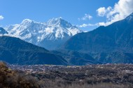 西藏林芝巍峨雪山风景图片(11张)