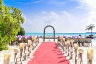 沙滩上的婚礼装饰图片(11张)