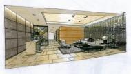 武汉水岸星城室内手绘稿图片(7张)