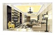 中海花城湾室内设计手绘图片(4张)