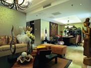 北京官园西派公寓A型东南亚风格样板房设计图片(6张)