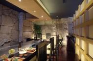 蓝日本餐厅装潢设计图片(15张)