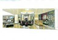 比华丽山别墅室内设计手绘图片(9张)