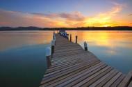 湖面上的小码头图片(15张)