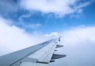 高空云层上的飞机机翼图片(10张)