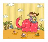 儿童和学校卡通矢量图片(50张)
