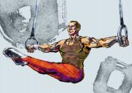 卡通体操矢量图片(12张)