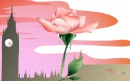 国家与鲜花矢量图片(40张)