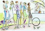 女性生活卡通插画图片(50张)
