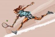 卡通网球运动矢量图片(7张)