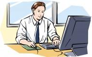 工作中的男性卡通矢量图片(45张)