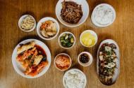 餐厅里的韩国料理图片(9张)