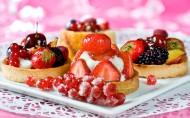美味的草莓蛋糕图片(8张)