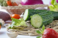绿色新鲜的黄瓜图片(9张)