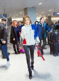 陈嘉桦ella上海机场性感写真图片