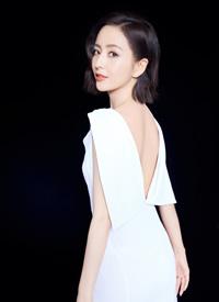 佟丽娅优雅白裙写真图片欣赏